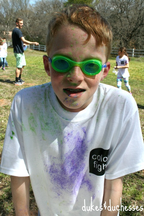 color fight faces