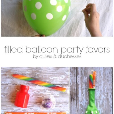 Filled Balloon Party Favors