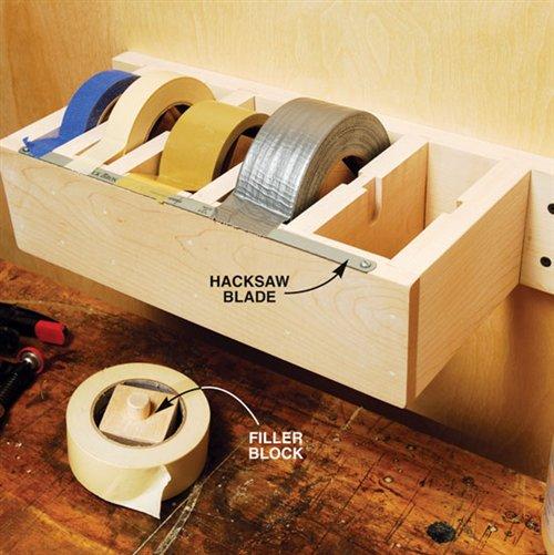 garage tape holder