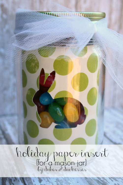 holiday paper insert for a mason jar