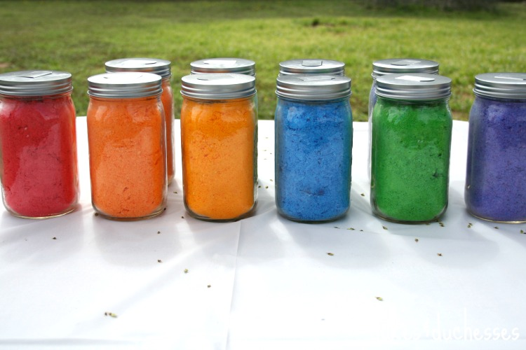 homemade DIY color powder for color fight