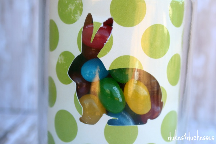 jelly beans in mason jar