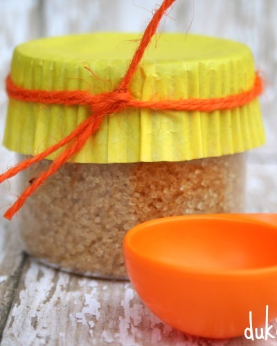 orange infused sugar made with essential oils