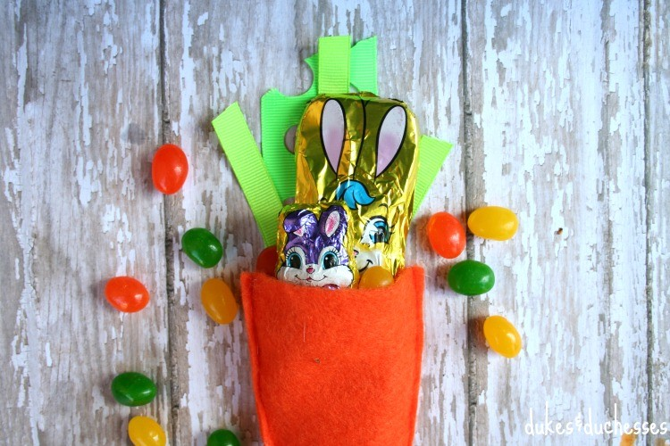Stitched Carrot Easter Party Favor