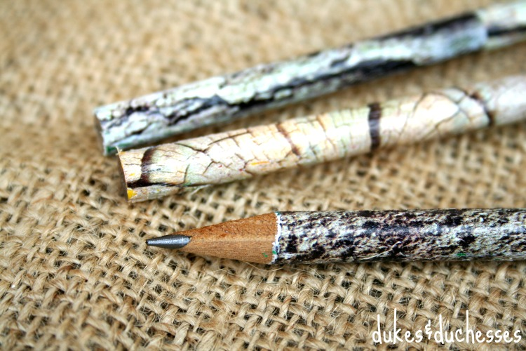 patterned pencils