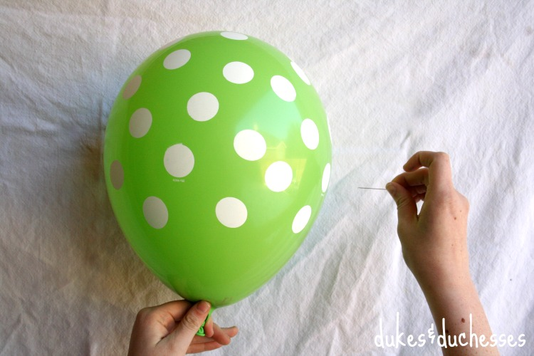 popping filled balloon party favor