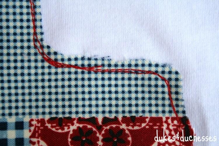 scribble stitch on applique