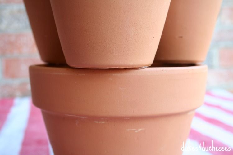 stacked terracotta pots