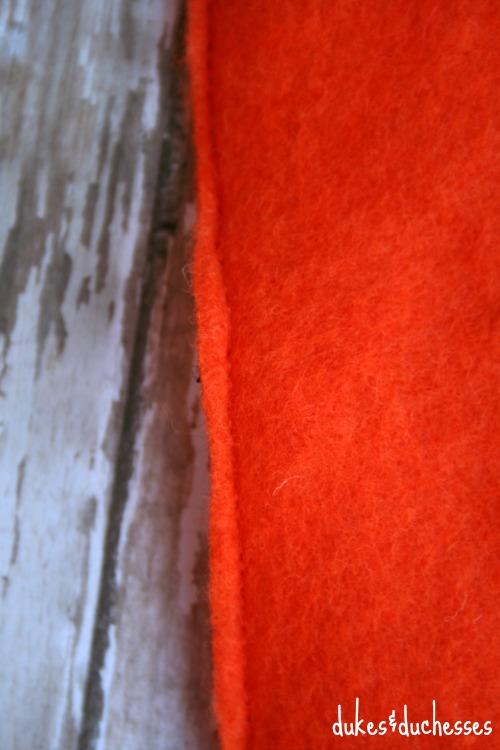 stitched felt carrot