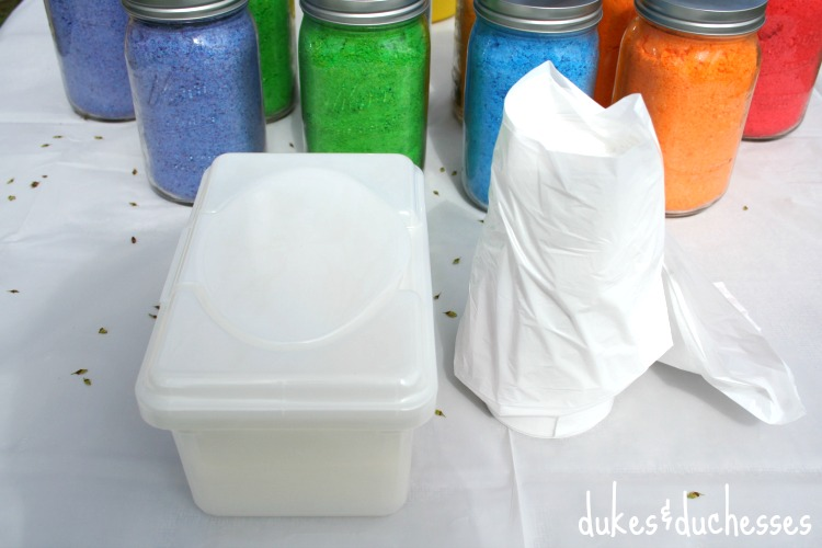 wipes and garbage bags