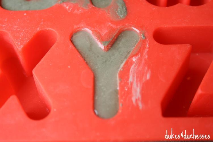 alphabet mold for concrete letters