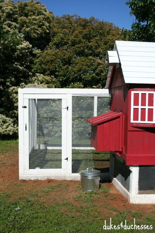 back of chicken coop