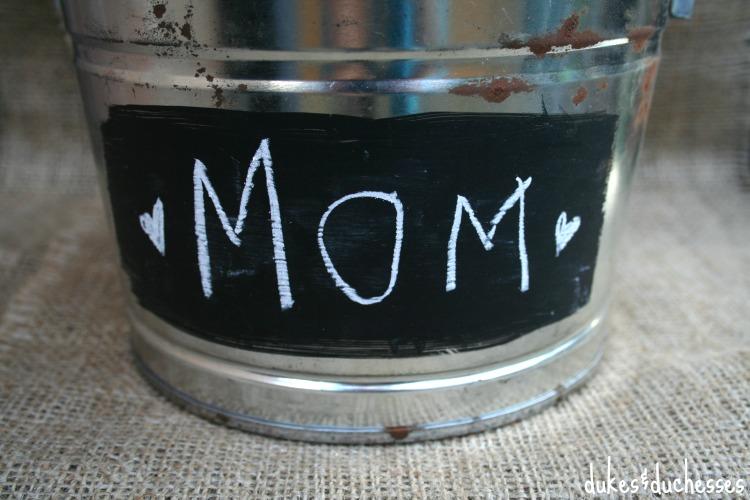 chalkboard bucket
