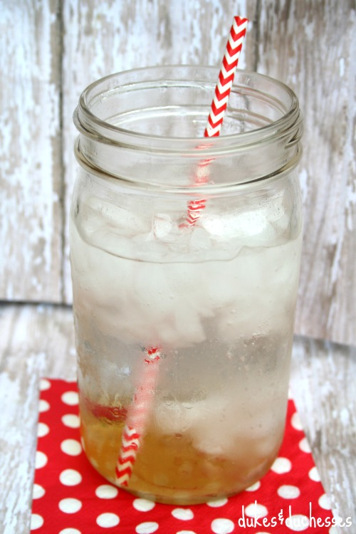club soda in homemade italian soda