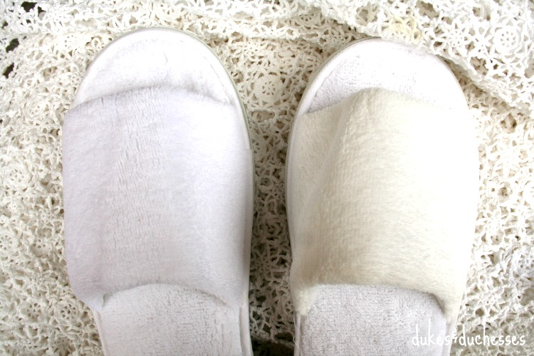 dollar store slippers