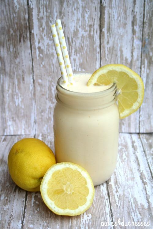 frosted lemonade in mason jar