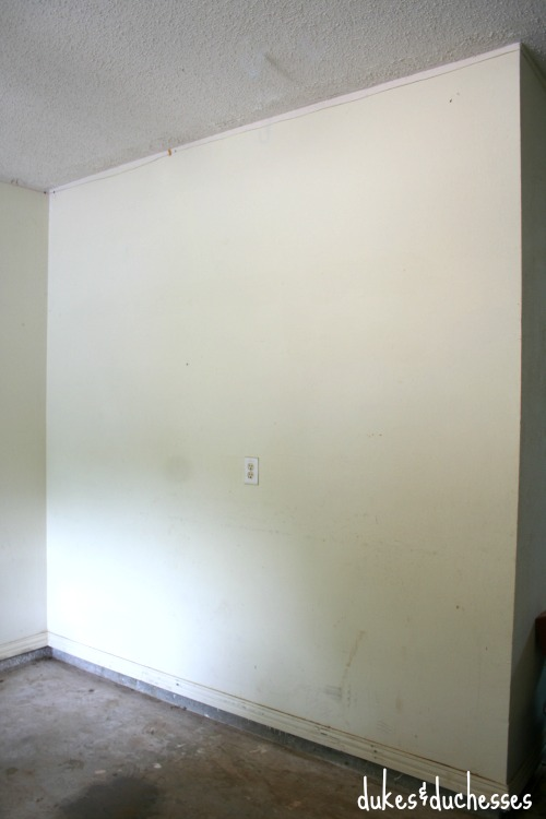 garage space ready for makeover