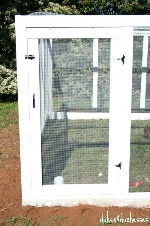 gate into chicken run