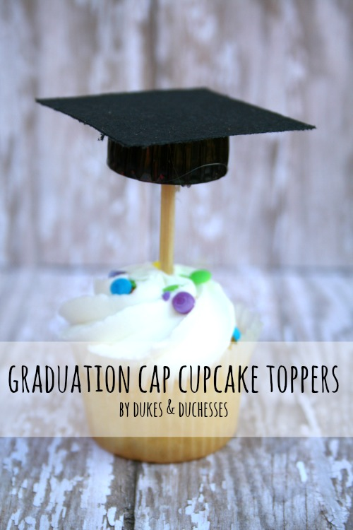 Graduation Cap Cupcake Toppers - Dukes and Duchesses