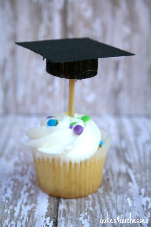 graduation cap cupcake toppers