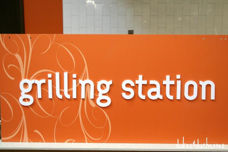 grilling station at kroger castle hills
