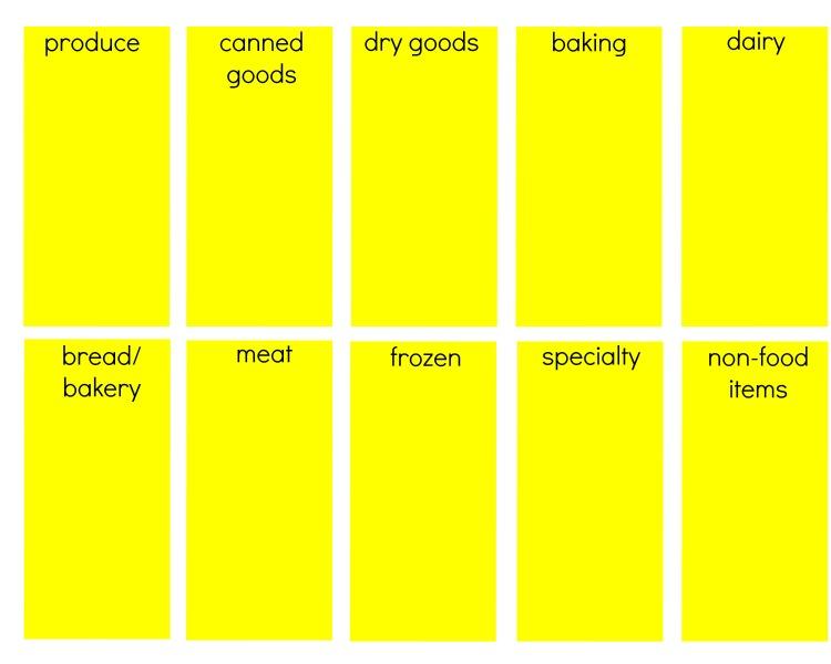 grocery printable