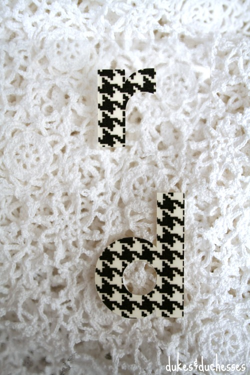 heat transfer letters for monogrammed slippers