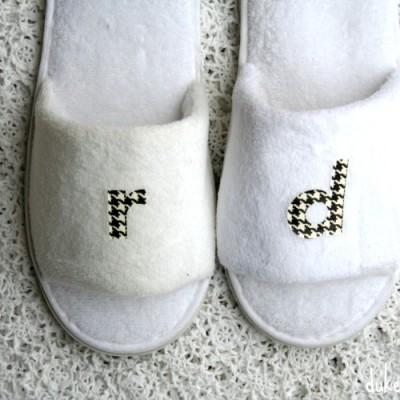 DIY Monogrammed Slippers
