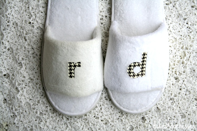how to make monogrammed slippers