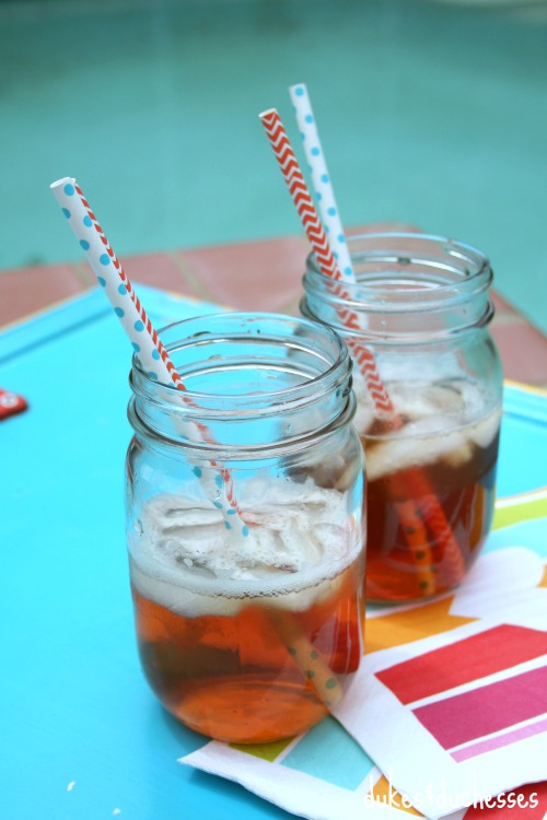 iced tea by the pool