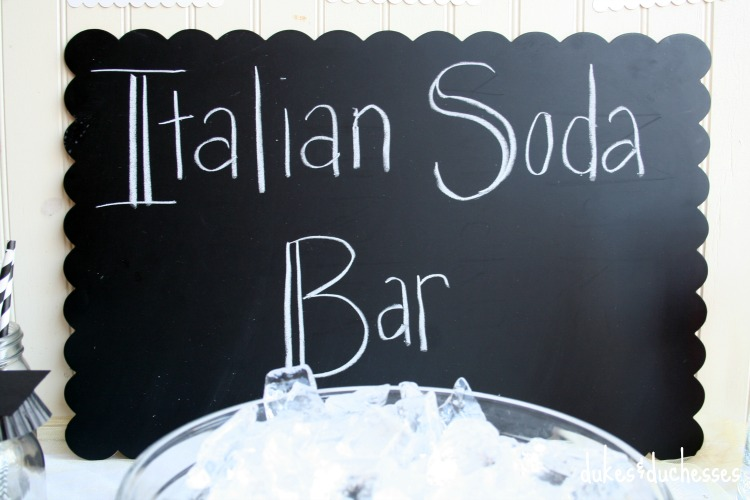 italian soda bar chalkboard sign
