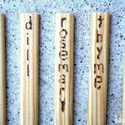 Wood Burned Plant Markers
