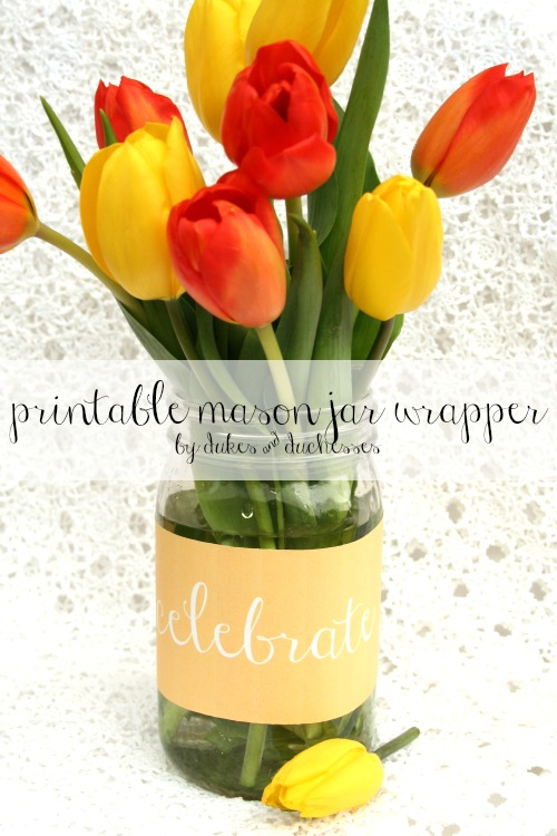 printable mason jar wrapper