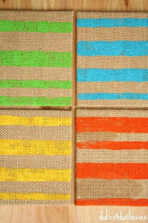 striped coasters