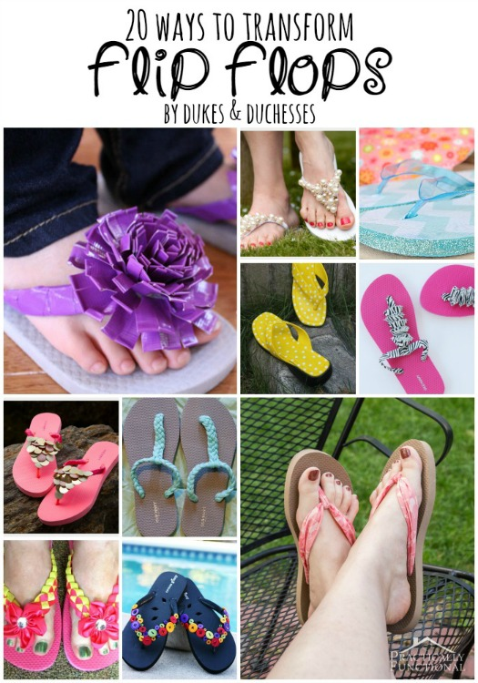 92b4bf133 20 Ways to Transform Flip Flops - Dukes and Duchesses