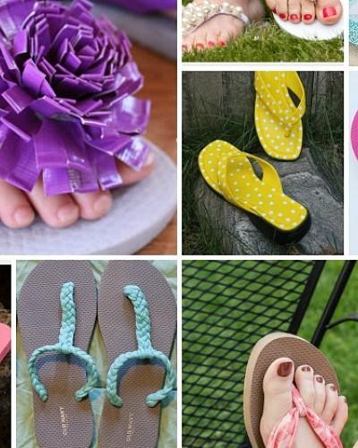 20 ways to transform flip flops visual