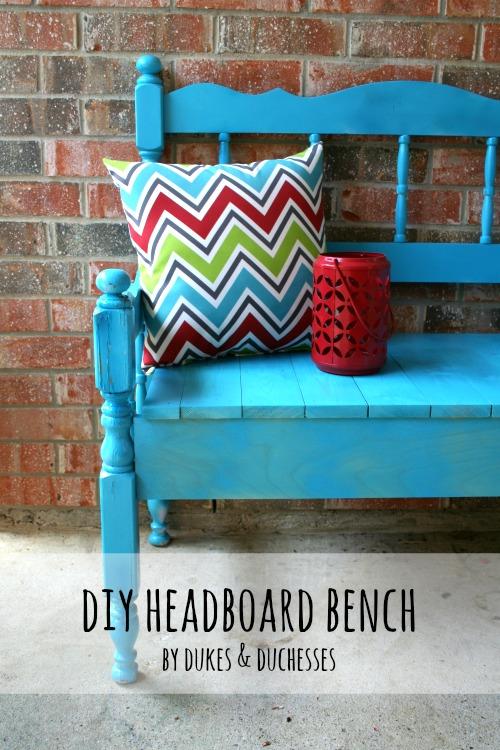 DIY headboard bench