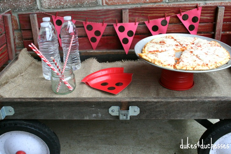 A Pizza Party In Vintage Wagon
