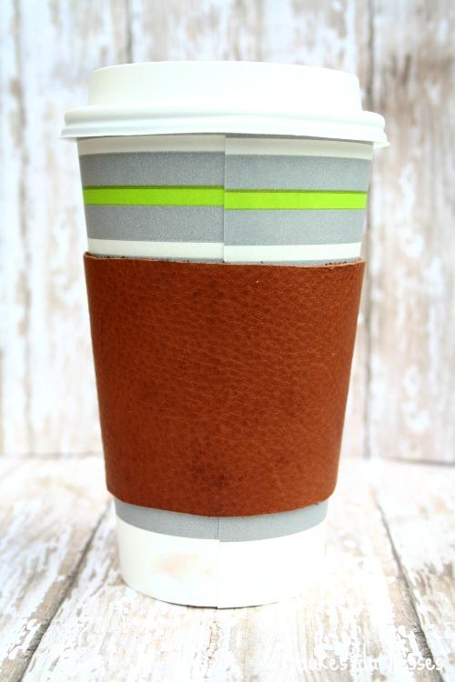 brown leather coffee cuff