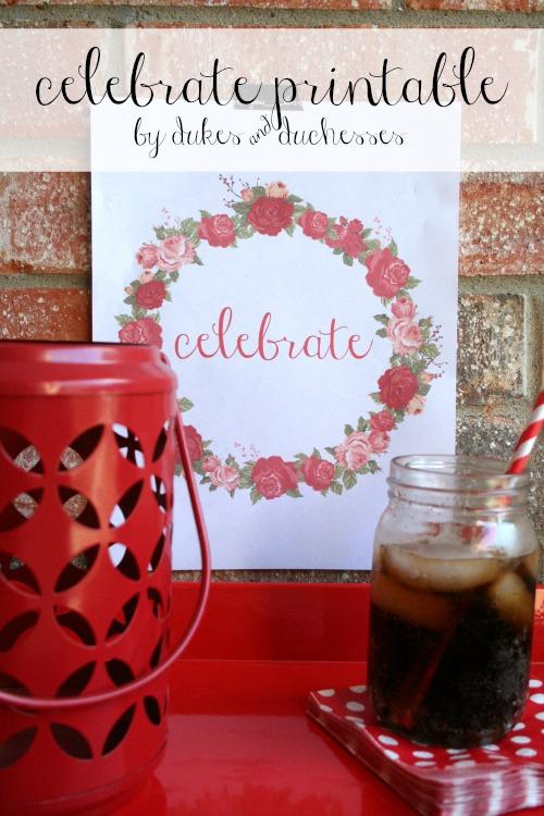 celebrate printable