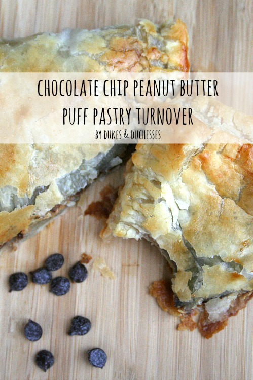 chocolate chip peanut butter puff pastry turnover