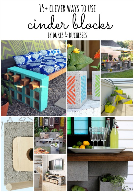 clever ways to use cinder blocks