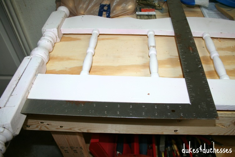 cutting footboard for bench
