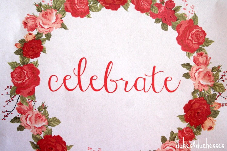 free celebrate printable