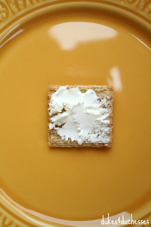 goat cheese on triscuit