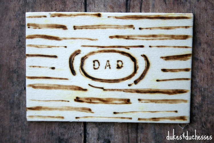 handmade wood tag for father's day