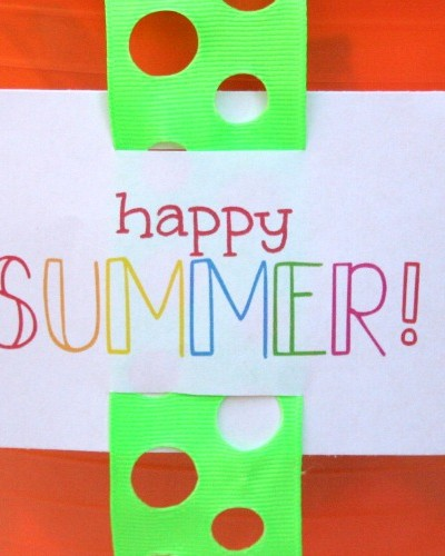 happy summer printable tag
