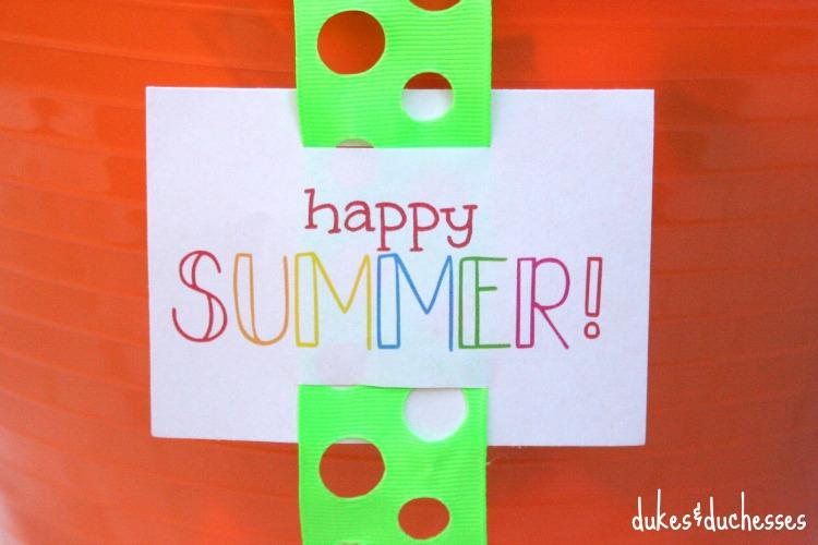 happy summer printable tag