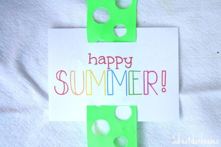 happy summer printable