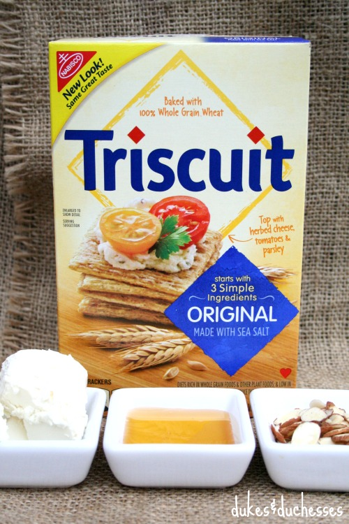 ingredients for savory honey almond triscuits